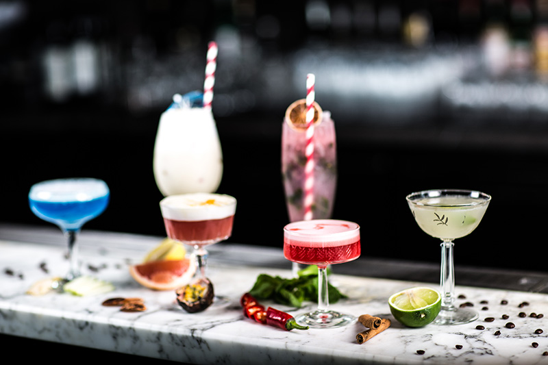 Selection of cocktails at The Collins Bar (Supplied)