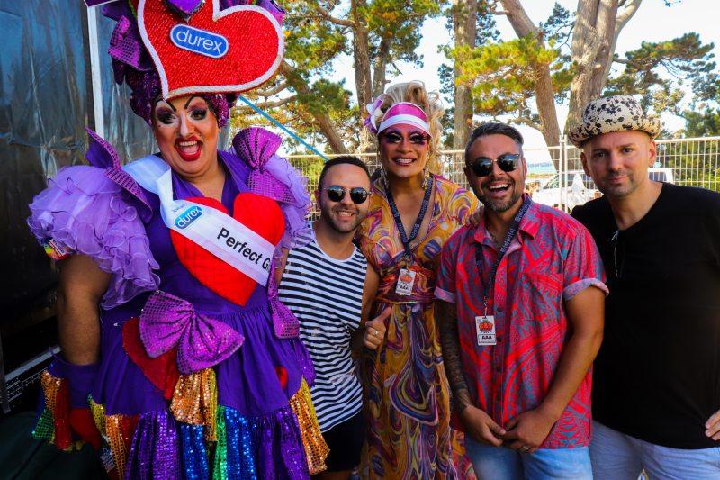 Aziz Al Sa'afin (middle) at Big Gay Out on Sunday (Photo: Tux Hika - Express)