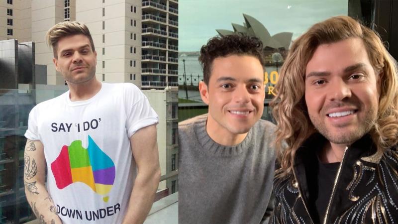 Justin Hill and Rami Malek