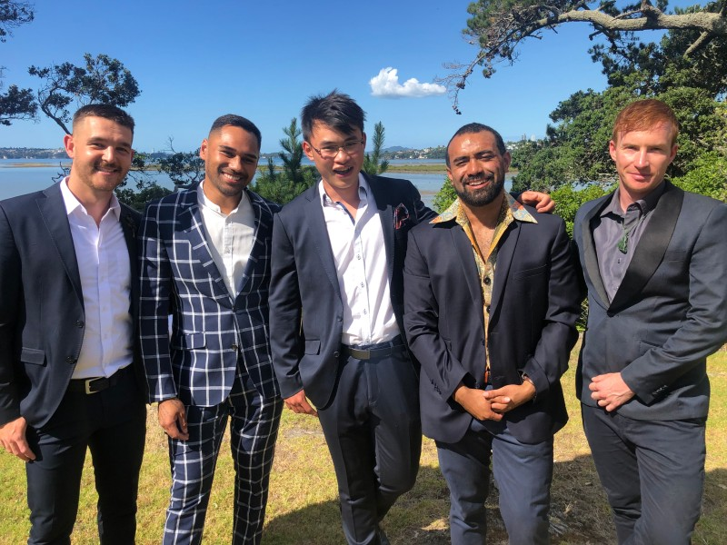 Mr Gay New Zealand Finalists at the Big Gay Out 2019