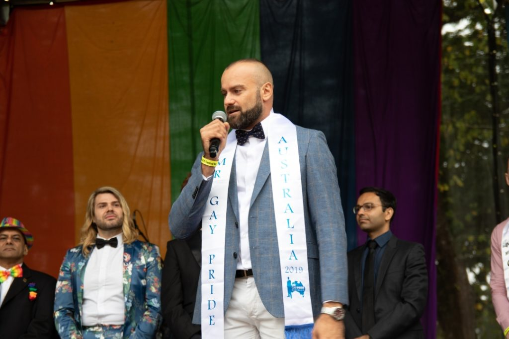 Rad Mitic Mr Gay Pride Australia 2019 (Photo credit - Fred LeMarche - The Boy Project)