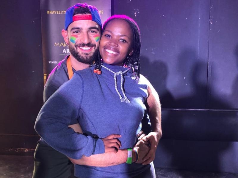 Mr Gay Pride Spain 2018 Francisco Alvarado with Award Winning Theatre Actress Somila Toyi (Instagram)