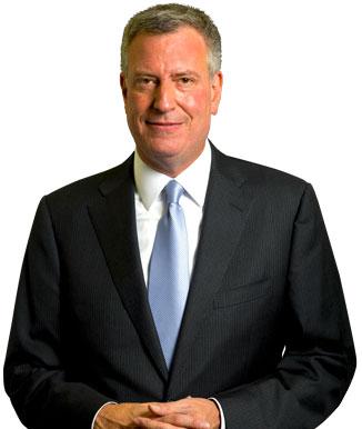 New York Mayor Bill De Blacsio