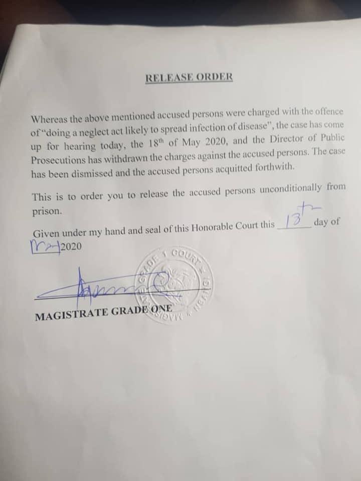 Uganda release order