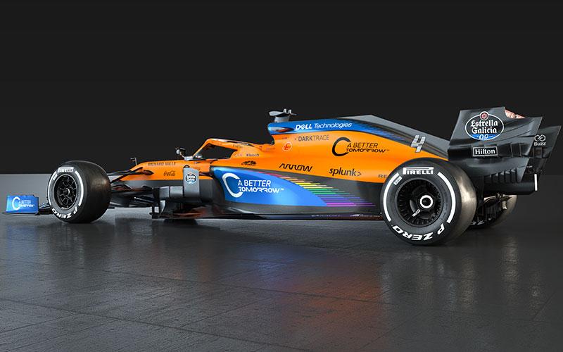 McLaren rainbow on the side