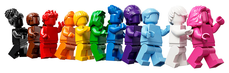 Lego Pride Set characters (Lego)