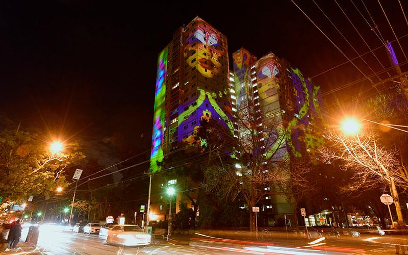 2019 Gertrude Street Projection Festival (Photo by Bernie Phelan - Supplied)